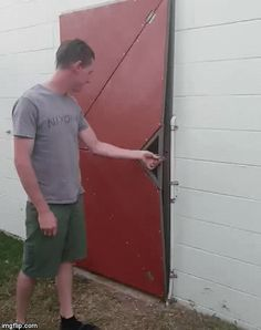 Cool Video Game Inspired Door That Opens Geometrically - Dr Wong - Emporium of Tings. The Web Magazine. Grill Door Design, Door Gate Design, Shed Doors, Garage Doors, Cool Doors, Folding Doors, Web Magazine, Welding Projects, Metal Working