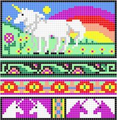 WitchWolfWeb Creations: Unicorn Charts