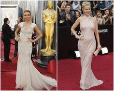 Vestidos blancos en los Oscar 2012. Guliana Rancic y Penelope Ann Miller  Penelope Ann Miller da748d75859