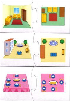 Lezen van eenvoudige plattegronden met kleuters 1, free printable Preschool Math, In Kindergarten, I Love School, Math Magic, Busy Boxes, Grande Section, Games For Kids, Little Ones, Projects To Try