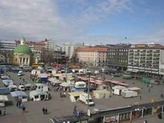 Turku, Finland This is the city's main center where there is a fresh farmer's market every day until mid-afternoon.