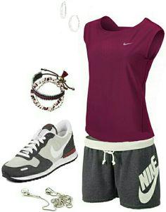 Women's fashion casual nike outfit