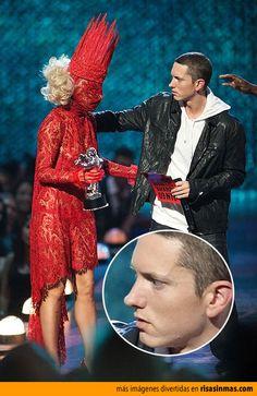 Encuentro épico de Lady Gaga y Eminem