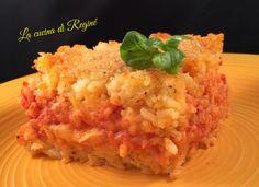 Tortino di riso pomodoro e mozzarella