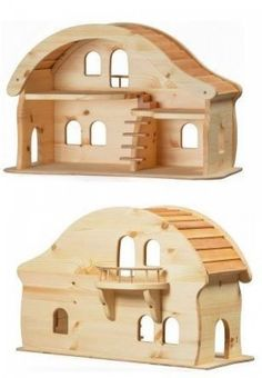 Verneur Wooden Doll House with Balcony Wooden Dollhouse, Wooden Dolls, Dollhouse Furniture, Doll Furniture, Woodworking Toys, Woodworking Projects, Kids Doll House, House With Balcony, Hamster House