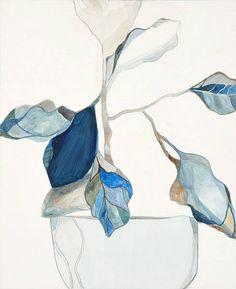 stilllifequickheart:  Emily Ferretti Blue Leaves 2011  MoreEmily Ferretti