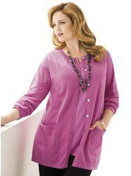 Ulla Popken Plus Size Ulla's Ultimate Cotton Cardigan Sweater Ulla Popken. $59.00