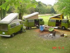 Green westfalia campout!! I'm diggin' this cuz it looks like my Sally!