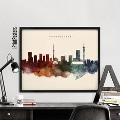 Nashville poster wall art travel art prints by iPrintPosters Skyline Tattoo, Skyline Art, Cityscape Art, Poster Wall, Poster Prints, Posters, Johannesburg Skyline, Nashville Skyline, Dublin Skyline