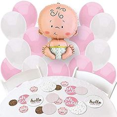 Amazon.com: Baby shower balloons for girl: Toys & Games