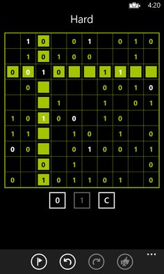 A hard Takuzu puzzle in progress. Please visit the Windows Phone store to download: http://www.windowsphone.com/s?appid=37cc5432-e7b6-46ea-9db6-0b6434bf0efd