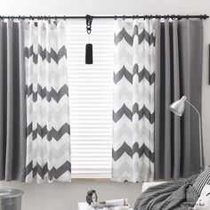 Gray Chevron Funky Extra Wide Custom Window Curtains,Gray Chevron Funky Extra Wide Custom Window Curtains Curtain monitor or curtain rod? The most typical types of fastening for curtains are rods and rai. Grey Chevron Curtains, Grey Curtains Bedroom, Grey And White Curtains, Chevron Gris, Living Room Decor Curtains, Home Curtains, Modern Curtains, Curtains With Blinds, Home Decor Bedroom