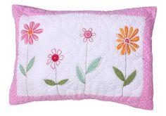 Babyface childrens bedding- Flower Garden Quilted Pillowcase