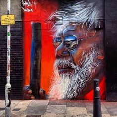 "zippy da zipster  "" Artist Matt Adnate photorealistic Street Art portrait in Shoreditch London Street Mural, 3d Street Art, Street Artists, Sculptures, Lion Sculpture, Outdoor Sculpture, Mural Art, First Nations, Public Art"