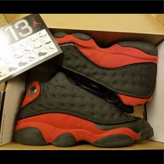 new style 023a5 a7ad0 Jordan Shoes   Jordan Retro 13 Bred 3m 10   Color  Black Red   Size  10