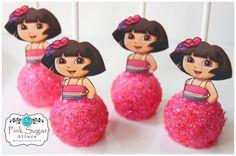 1 Dozen Custom Design Cake Pops Princess Dora by PinkSugarAllure, $35.00 3rd Birthday Parties, 2nd Birthday, Dora Cake, Dora And Friends, Festa Party, Dora The Explorer, Baby Girl Birthday, Cake Pops, Food Ideas