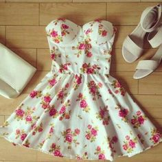 """Dresses Length: Above Knee Sleeve Length: Sleeveless Pattern: Printed Material: blended Color: white Size: XS (US size) Bust: 31-33"""", Waist: 23-25"""", Hips: 33-35"""" S (US size) Bust: 33-35"""", Waist: 25-27"""