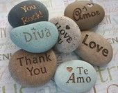 CUSTOM Engraving gift stone - Personalized your message stone