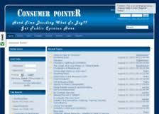 """Consumer Pointer is a single platform for discussing & gathering public opinion & reviews on all types of consumer goods & services. It is a one-in-all forum for everything from cars & bikes to computers & mobiles, food products to internet services, women's fashion to sports & fitness equipments.  """"Please join us today & contribute your invaluable help to the consumer community!"""""""