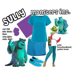 1000+ images about Boo Crew on Pinterest Monster  sc 1 th 225 & Homemade Sully Costume Photo 56
