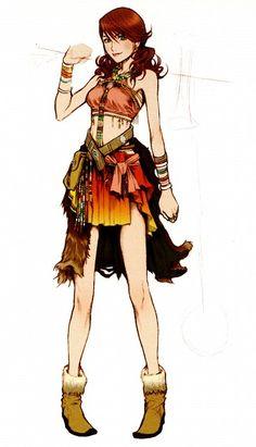 Week 13 - Final Fantasy XIII - Concept Art Mon -  Oerba Dia Vanille