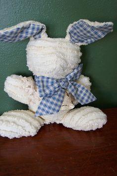 Vintage Chenille Bedspread Rabbit