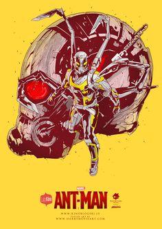Ant-Man Movie Poster Print by Harry Grundmann
