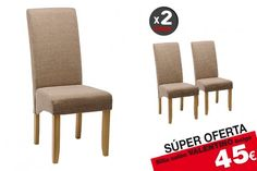 2 sillas salón VALENTINO Beige 45€ /u. Color Beige, Dining Chairs, Valentino, Furniture, Home Decor, Upholstered Chairs, Painted Wood, Timber Frames, Modern Furniture