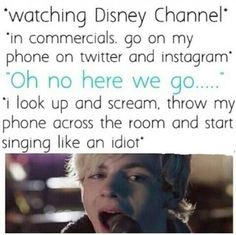 """Exactly what I do..minus throwing my phone. The song """"Forget About You"""" OMG!"""