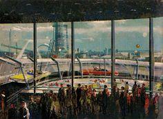 1964 World's Fair : Ford Magic Skyway concept art.