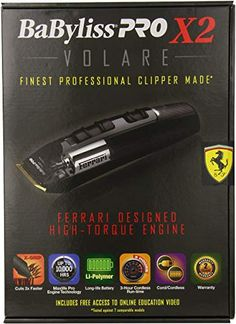 Chic BaByliss Pro X2 Volare Professional Ferrari Clipper Beauty Tools. [$199.99] topusshop from top store