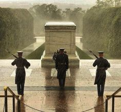 Although this photo was NOT taken during Hurricane Sandy, The Old Guard has guarded the Tomb of the Unknown Soldier every minute of every day since April 6, 1948. Hurricane Sandy was no exception. http://www.facebook.com/oldguard