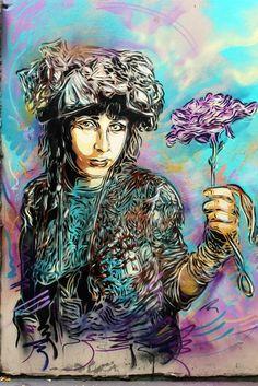 C215 New Street Art Pieces - Paris, France
