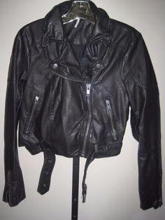 FREE PEOPLE size S VEGAN leather MOTO CAFE RACER motorcycle BOMBER JACKET punk #FreePeople #Everyday