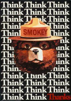Smokey Bear Poster - Think - Thanks