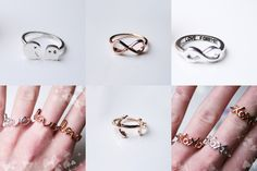 www.oohlala.nl €3,95 p.s xoxo ring, pacman ring, infinity ring, anker ring, love ring