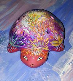 Turtle from the magic planet - Ceramic Ocarina. Animals sculpture by Jivizvuk on Etsy
