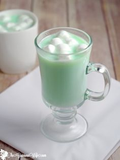 Homemade Mint White Chocolate is a fast and easy hot chocolate recipe made with white chocolate and mint! From TheGraciousWife.com