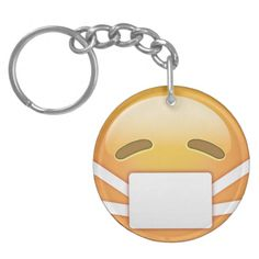 Face With Medical Mask Emoji Keychains