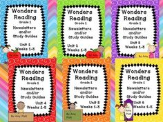 Here are all 6 units of newsletters / study guides that go along with the McGraw-Hill Wonders Reading program for Grade The whole year for each . Wonders Reading Programs, Reading Wonders, Mcgraw Hill Wonders, Study Guides, Grade 1, The Unit, Education, Learning, Language Arts