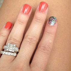 This is suppose to be about the nails...... But I LOVE the ring lol