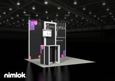 Nimlok specializes in trade show ideas and trade show booth design. For Sophia, we created a custom 10x10' display to meet their needs.