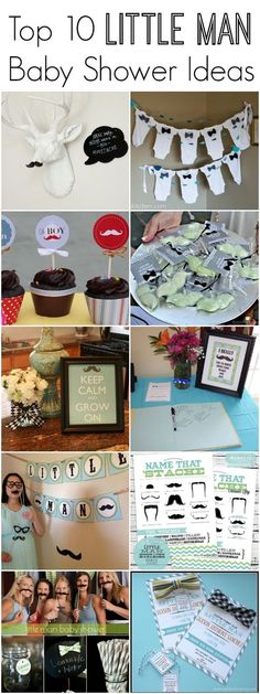 "The cutest ideas! The Top 10 ""Little Man"" Baby Shower Ideas"