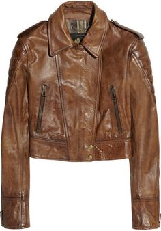 Love this: Seaton Cropped Leather Biker Jacket @Lyst