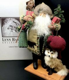 Lynn Haney Santa Claus 1999 CHRISTMAS IN FOX HOLLOW with tags in original box #LynnHaney Old World Christmas Ornaments, French Christmas, Christmas Items, Christmas Signs, Holly Village, Winter Hats, Fox, Santa, Things To Sell