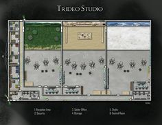 Trideo Studio; shadowrun, floorplan