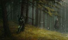 Jakub Rozalski - Fantasy The Witcher fanart Forest dryad High Fantasy, Fantasy Rpg, Medieval Fantasy, Fantasy World, The Witcher, Witcher Art, Berserk, Wow Art, Art Series