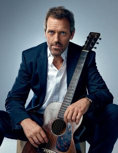 Hugh Laurie. Something about a man and a guitar❤️