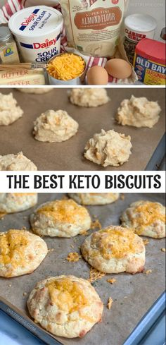 These are amazing! The Best Keto Biscuits, EVER! The BEST Keto Cheddar Biscuits - Instrupix Low Carb Bread, Keto Bread, Low Carb Keto, Protein Bread, Bread Baking, Baking Soda, Biscuits Au Cheddar, Keto Biscuits, Cheddar Cheese