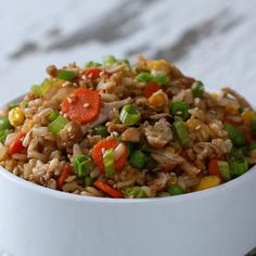 Easy & Healthy Fried Rice Recipe by Tasty Healthy Meals For Two, Healthy Cooking, Healthy Eating, Cooking Recipes, Healthy Recipes, Weekly Recipes, Rice Recipes, Chicken Recipes, Dinner Recipes